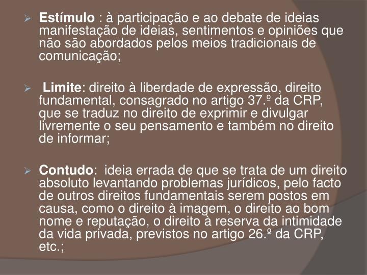 Estmulo