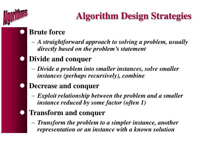 Algorithm Design Strategies
