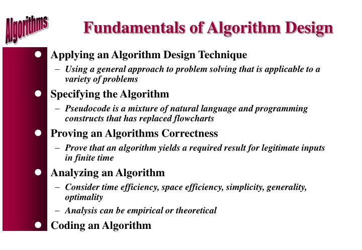 Fundamentals of Algorithm Design