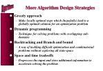 more algorithm design strategies