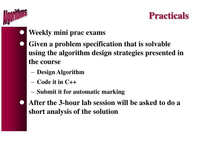 Practicals