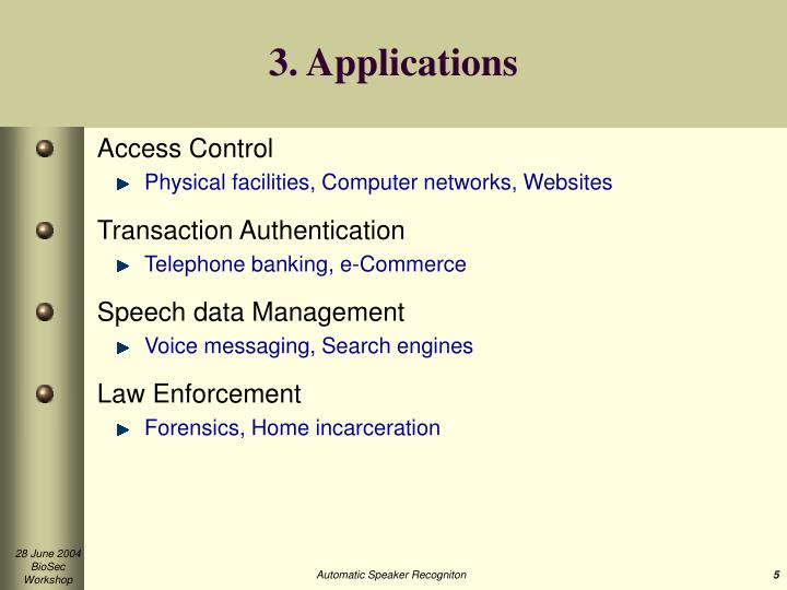 3. Applications