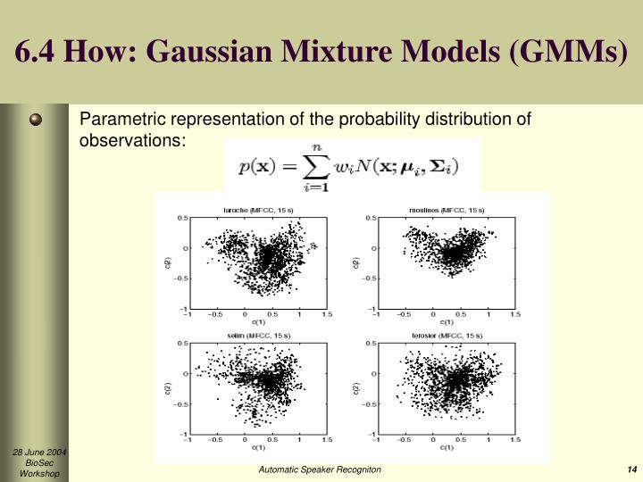 6.4 How: Gaussian Mixture Models (GMMs)