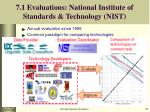 7 1 evaluations national institute of standards technology nist