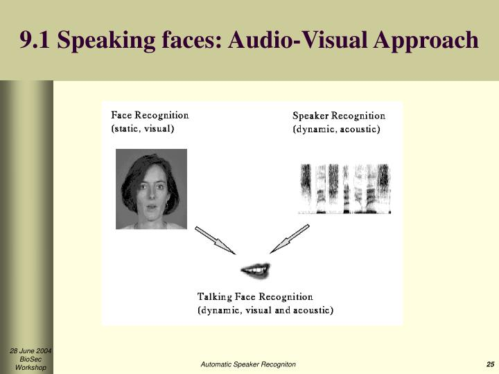 9.1 Speaking faces: Audio-Visual Approach