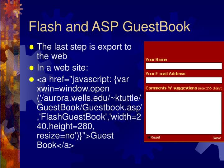 Flash and ASP GuestBook