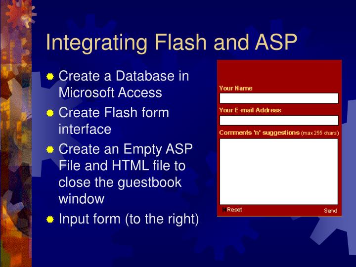 Integrating Flash and ASP