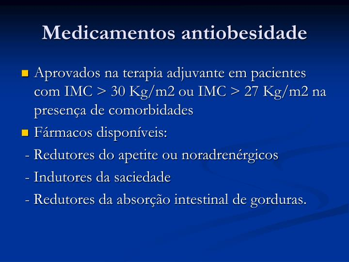 Medicamentos antiobesidade
