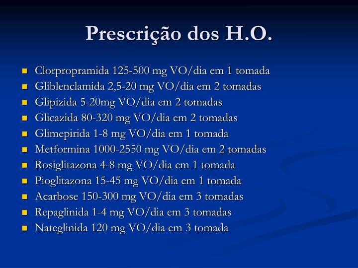 Prescrição dos H.O.