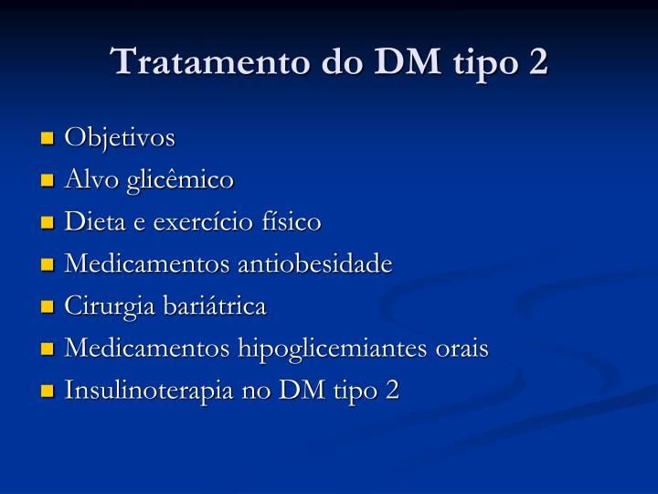 Tratamento do DM tipo 2