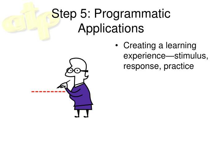 Step 5: Programmatic