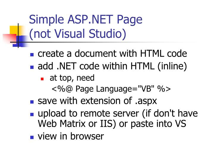 Simple ASP.NET Page