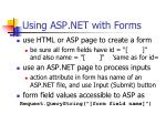 using asp net with forms
