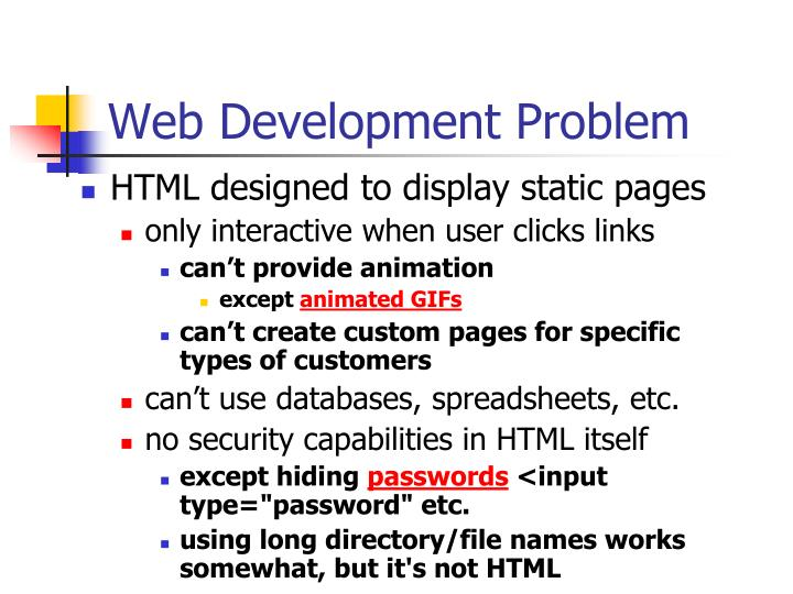 Web development problem