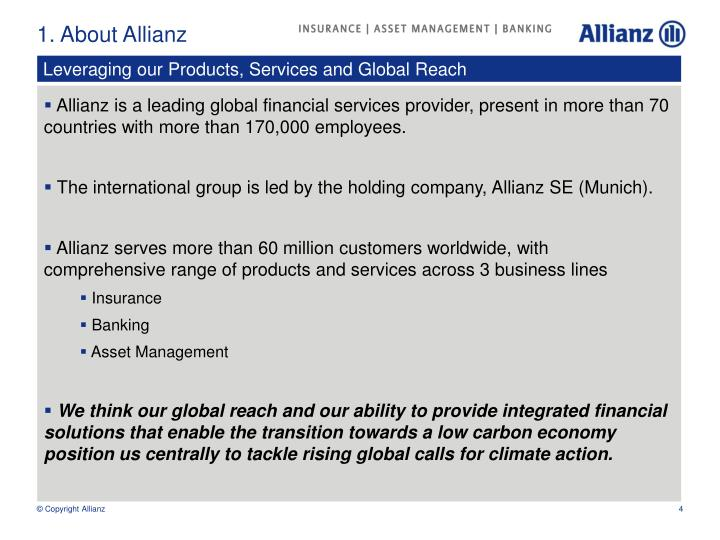 1. About Allianz