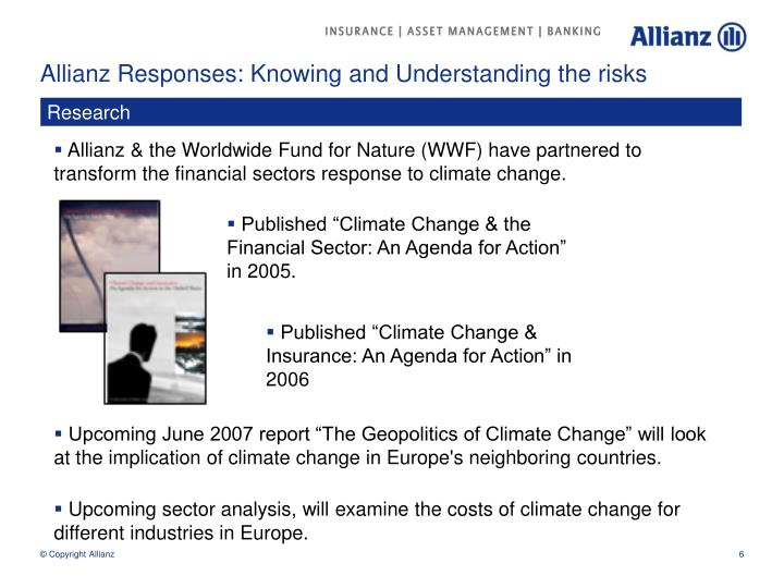 Allianz Responses: Knowing and Understanding the risks