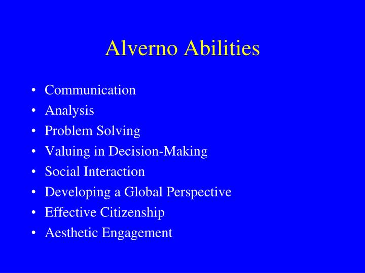 Alverno Abilities