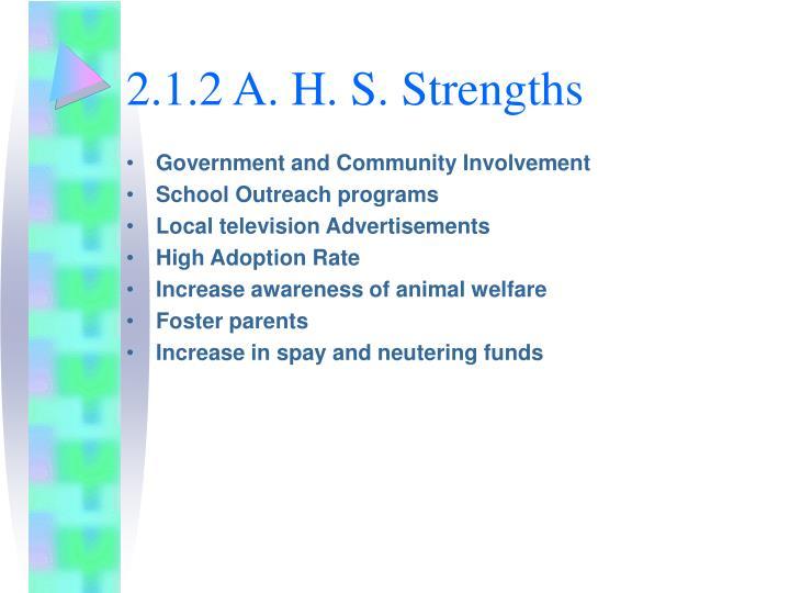 2.1.2 A. H. S. Strengths