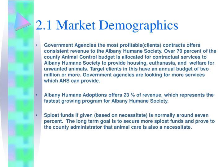 2.1 Market Demographics