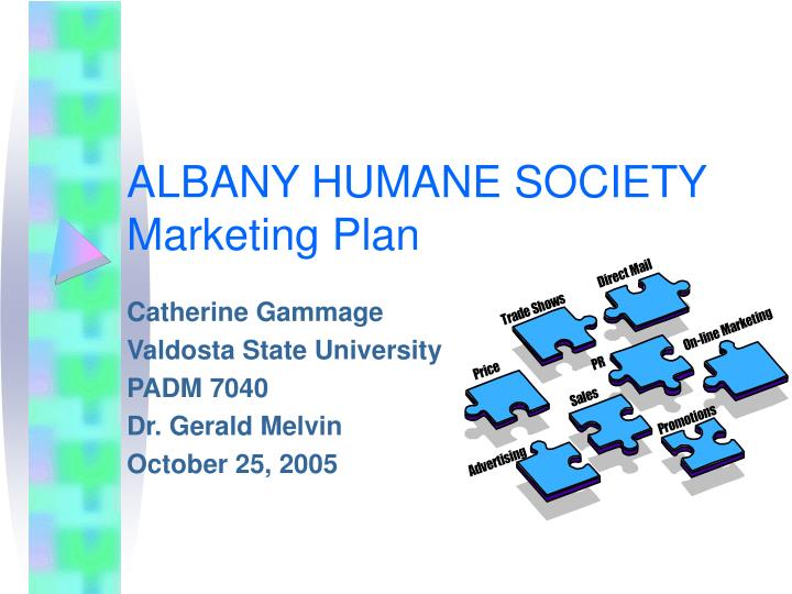 Albany humane society marketing plan