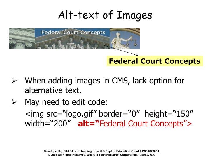 Alt-text of Images