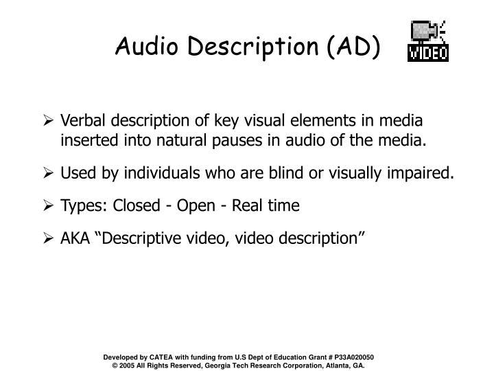 Audio Description (AD)