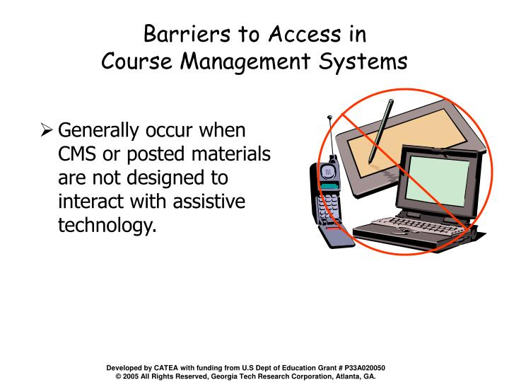 Barriers to Access in