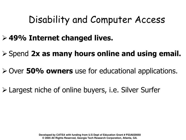 Disability and Computer Access