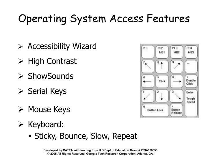 Operating System Access Features