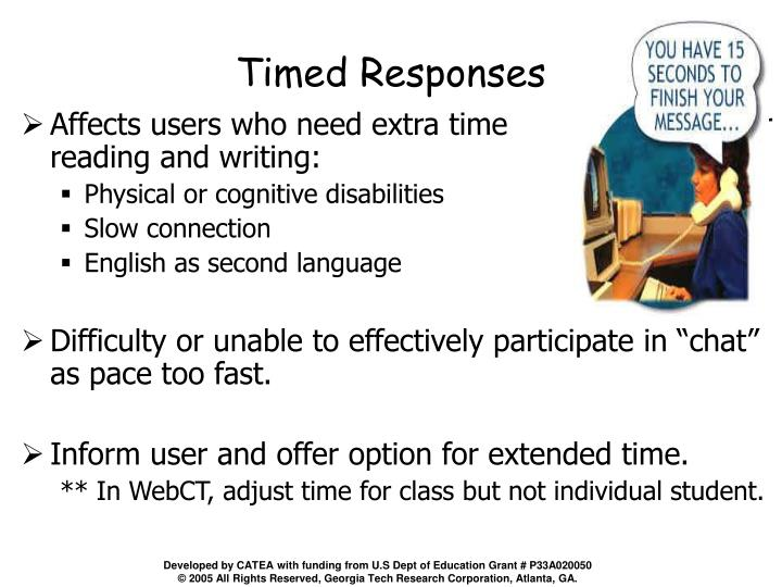 Timed Responses