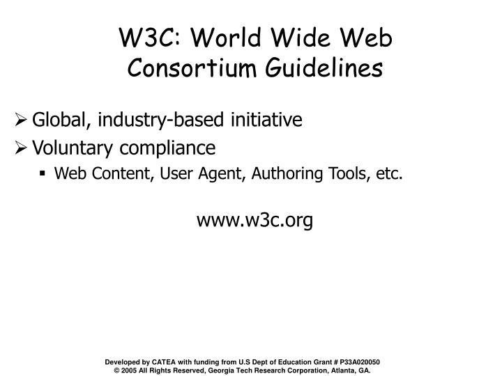 W3C: World Wide Web