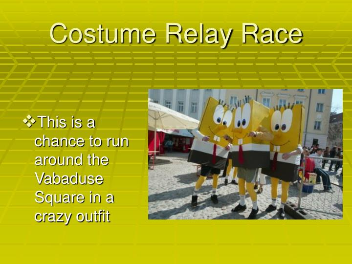 Costume Relay Race