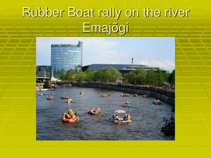 Rubber Boat rally on the river Emajõgi