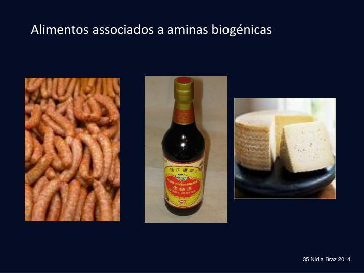 Alimentos associados a aminas biogénicas