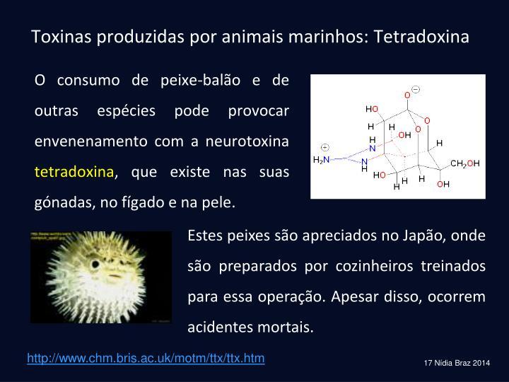 Toxinas produzidas por animais marinhos: Tetradoxina