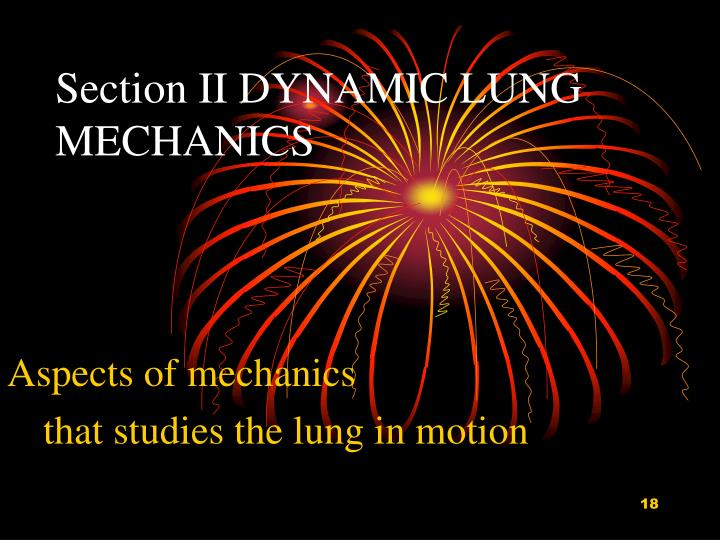 Section II DYNAMIC LUNG MECHANICS