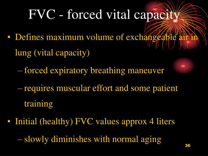 FVC - forced vital capacity
