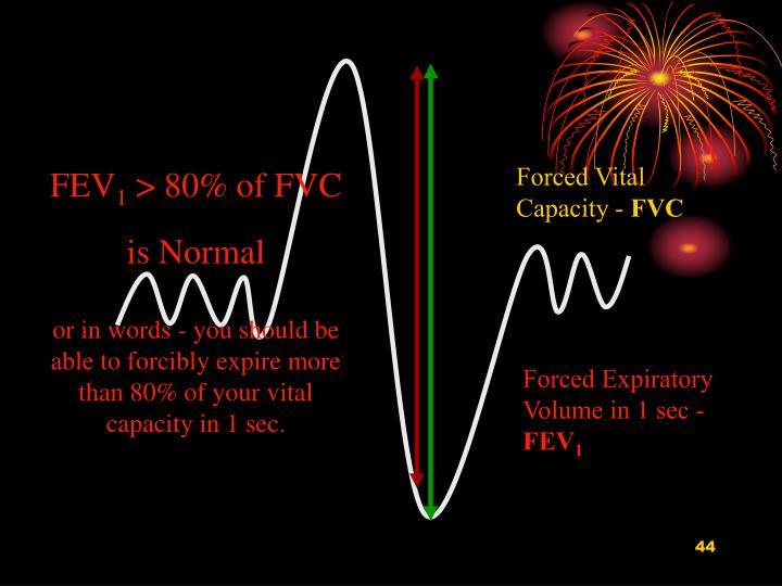 Forced Vital Capacity -
