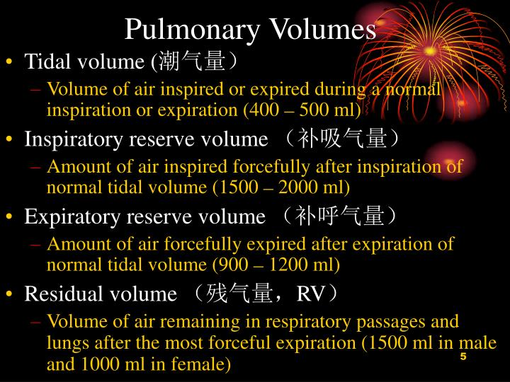 Pulmonary Volumes