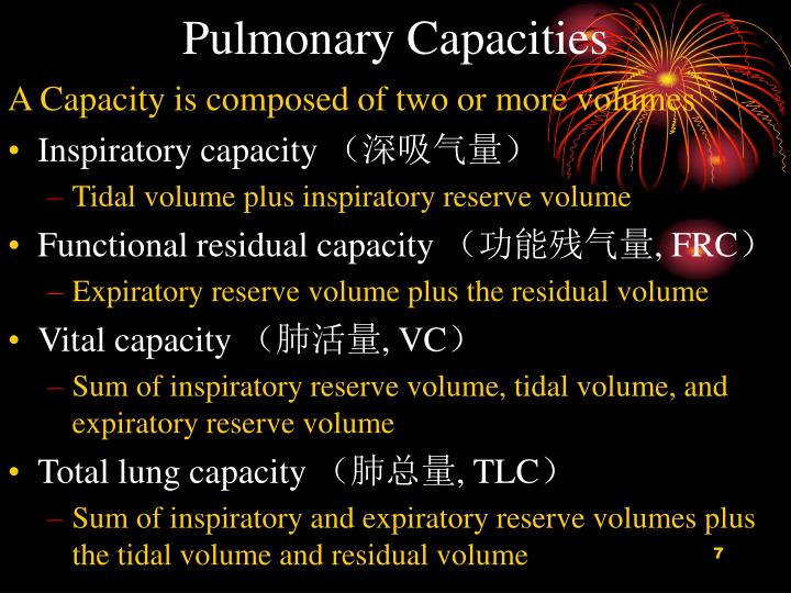 Pulmonary Capacities