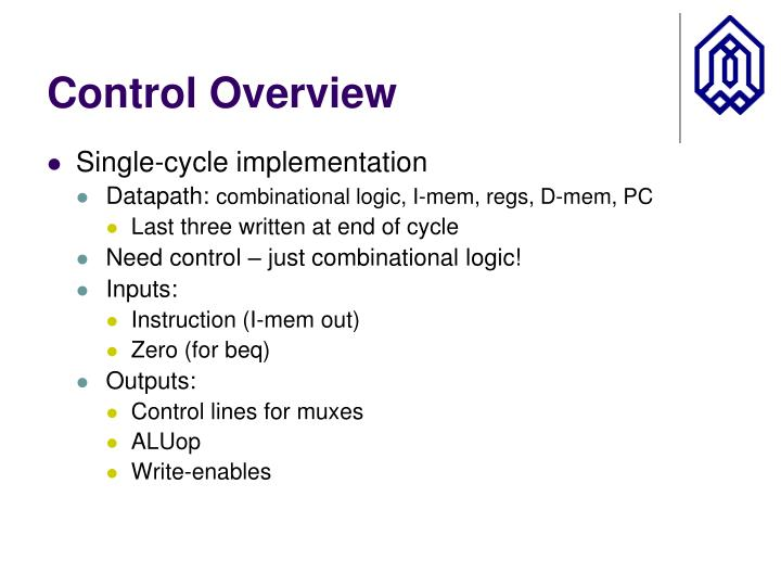 Control Overview