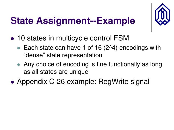 State Assignment--Example