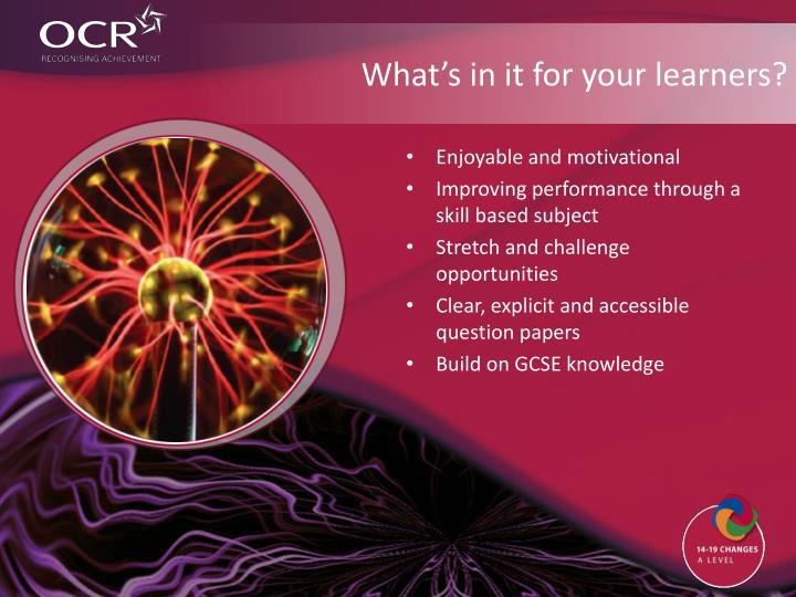 What's in it for your learners?