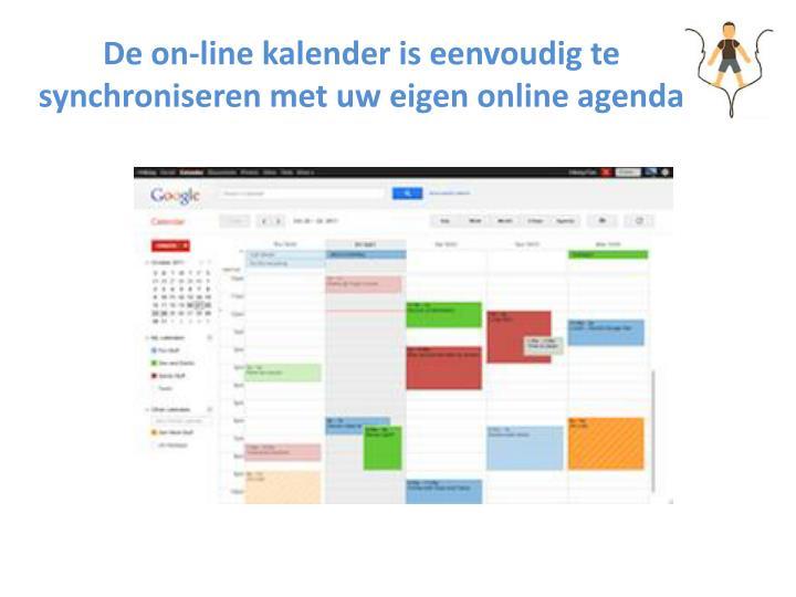 De on-line kalender is eenvoudig te synchroniseren