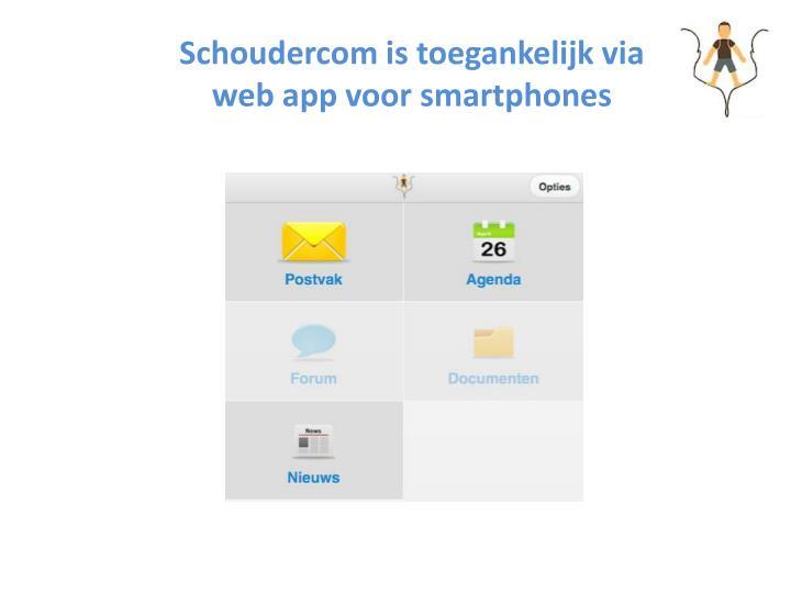 Schoudercom is toegankelijk