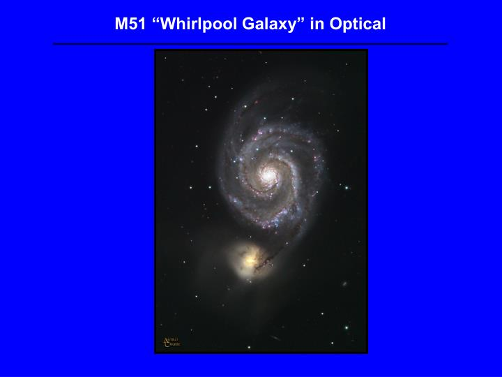 M51 Whirlpool Galaxy in Optical