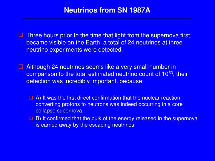 Neutrinos from SN 1987A