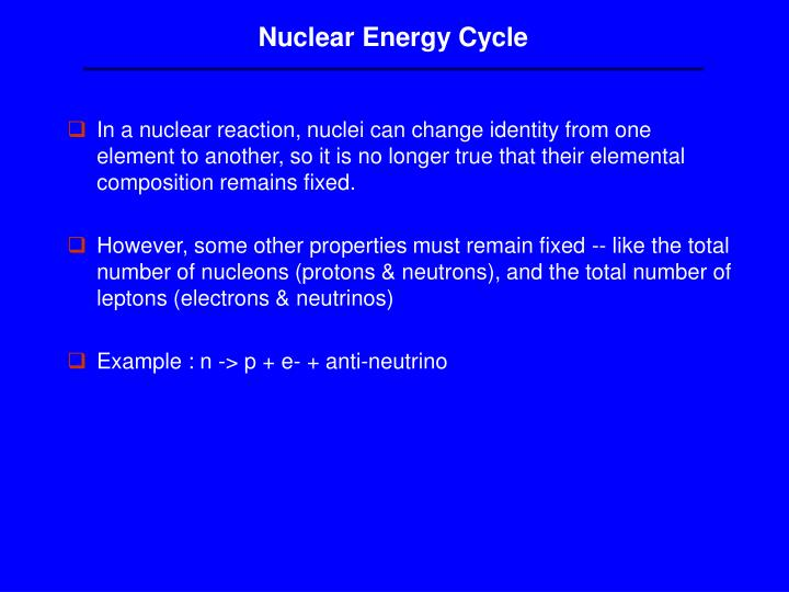 Nuclear Energy Cycle