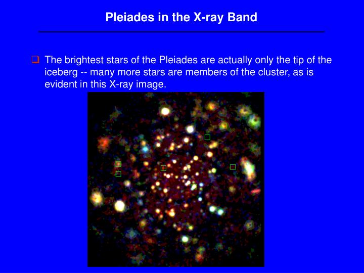 Pleiades in the X-ray Band