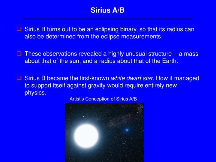 Sirius A/B